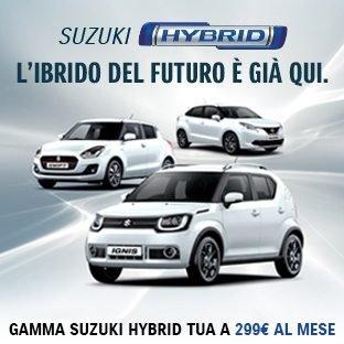 Gamma Suzuki Hybrid: tua a 299€ al mese